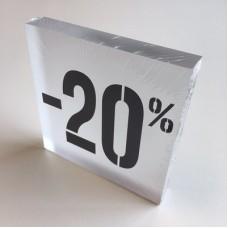 Kortingsblok -20% mat transparant Td14234707