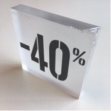 Kortingsblok -40% mat transparant Td14234709