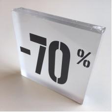 Kortingsblok -70% mat transparant Td14234712