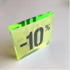 Kortingsblok -10% fluor groen Td14234746