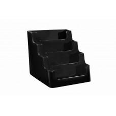 Visitekaarthouder 4-vaks zwart Tn20501101