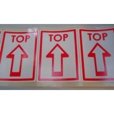 Etiket voor op pakketten wit/rood Td27513230