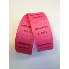 Consumptiebonnen op rol roze 500/rolTd35990024