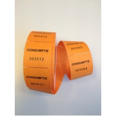 Consumptiebonnen op rol oranje 500/rolTd35990025