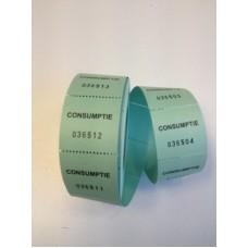 Consumptiebonnen op rol groen 500/rolTd35990027
