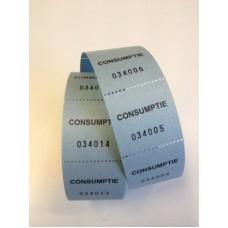 Consumptiebonnen op rol blauw 500/rolTd35990028