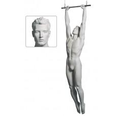 Etalagepop heer als acrobaat wit G82028