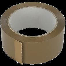 Dozensluittape PVC 48mm 66mt bruin Tpk553633
