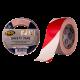 Markeertape rood/wit 33m 50mm Tpk557105