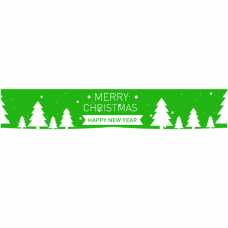 Tape Merry Christmas groen Tpk553031
