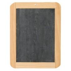 Krijtbordje met houten rand 16.5x21.5cm Td12960080