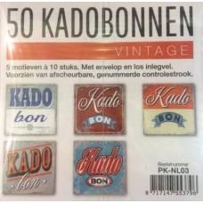 Cadeaubonnen vintage 50st. Tpk730832