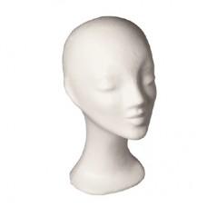 Pruikenhoofd dame wit 33cm Td00020401