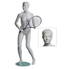 Etalagepop heer als tennisser wit G83528