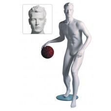 Etalagepop heer als basketballer wit G83028