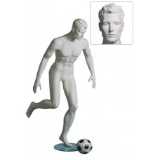 Etalagepop heer als voetballer wit G84528