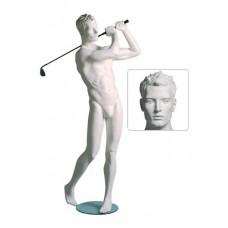 Etalagepop heer als golfer wit G86028