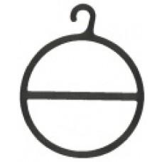 Sjaalhanger Ø10cm transparant 250st. Td05000227