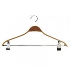 Berkenhouten hanger 42cm met knijpers 50st Tus7767