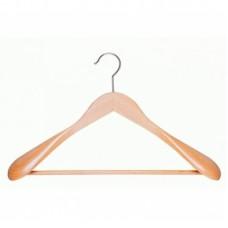 Houten kledinghanger brede schouder+broeklat HH13139L
