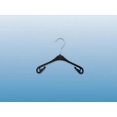 Kunststof kledinghanger zwart los/per stuk NA26L