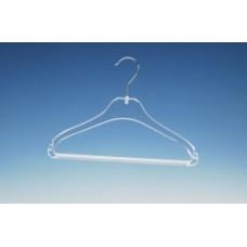 Transparante kledinghanger 33cm met broeklat 350st STB1