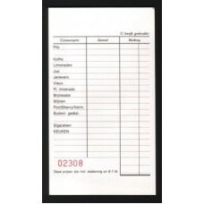 Barkaarten genummerd 500st. Td35990041