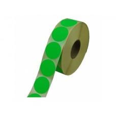 Prijssticker Ø25mm fluor groen1000/rol Td27501725