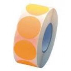 Prijssticker Ø25mm fluor oranje 1000/rol Td27501525